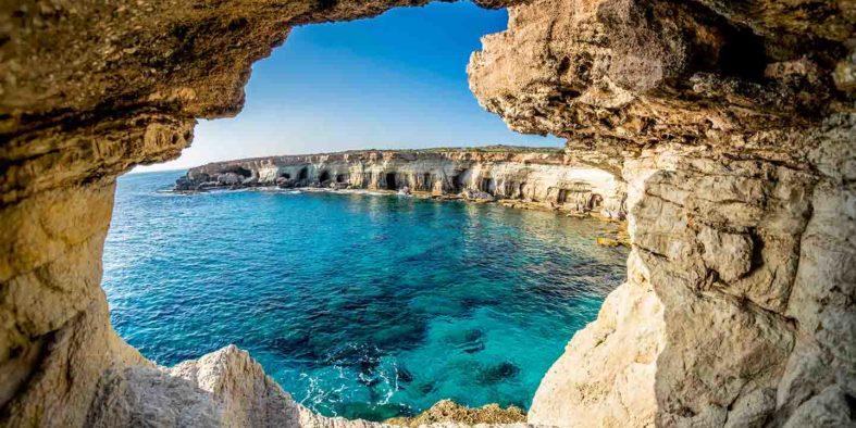 Sea Caves near Ayia Napa, Cyprus.